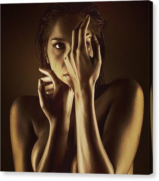 Female Nudes Canvas Print - We Are Born Ashamed Of Our Bodies, But by Bryon Paul Mccartney