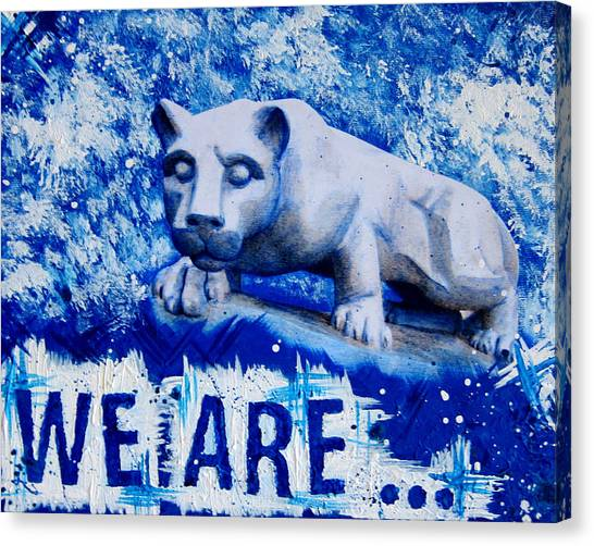 Pennsylvania State University Canvas Print - We Are... Penn State by Michelle Eshleman