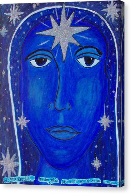 Joni Mitchell Canvas Print - We Are Stardust by Michelle Fairchild