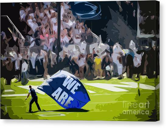 Cheerleading Canvas Print - We Are by Tom Gari Gallery-Three-Photography