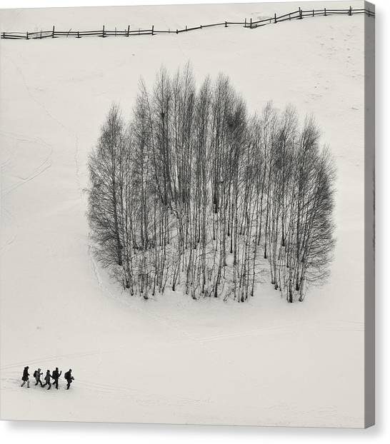 Hiking Canvas Print - We Can't Dance by Mihai Ian Nedelcu