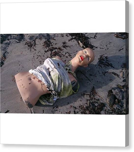 Torso Canvas Print - We Found A Body In The Harbour!!!! by Vhairi Walker