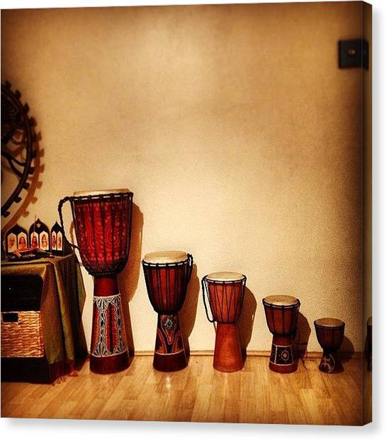 Djembe Canvas Print - We Got #signal  #djembe #percussion by Ivan Belvis
