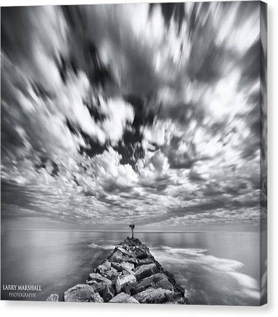 We Have Had Lots Of High Clouds And Canvas Print by Larry Marshall