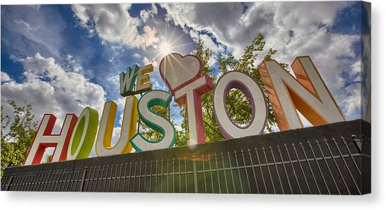 We Love Houston Canvas Print