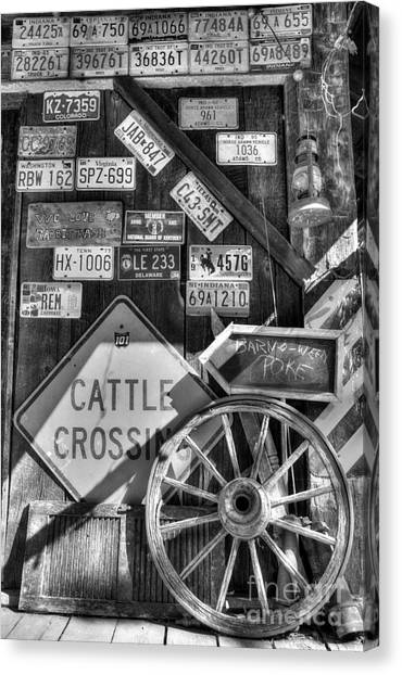 We Love Rabbit Hash Bw Canvas Print by Mel Steinhauer