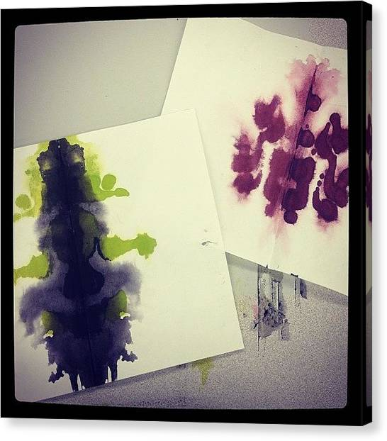 Psychology Canvas Print - We Made #inkblots In Class Today by Emily Sam