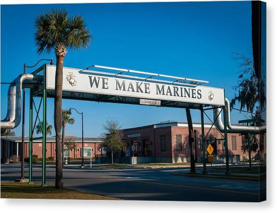We Make Marines Canvas Print