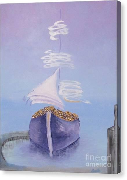 Wealth On My Port Canvas Print