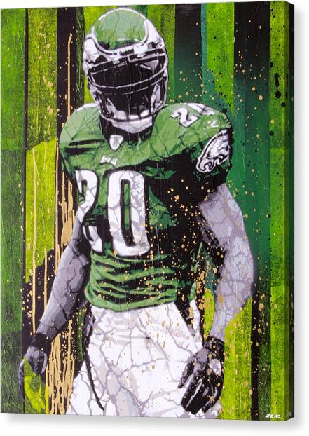 Philadelphia Eagles Canvas Print - Weapon X by Bobby Zeik