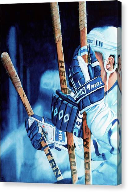 Toronto Maple Leafs Canvas Print - Weapons Of Choice by Hanne Lore Koehler