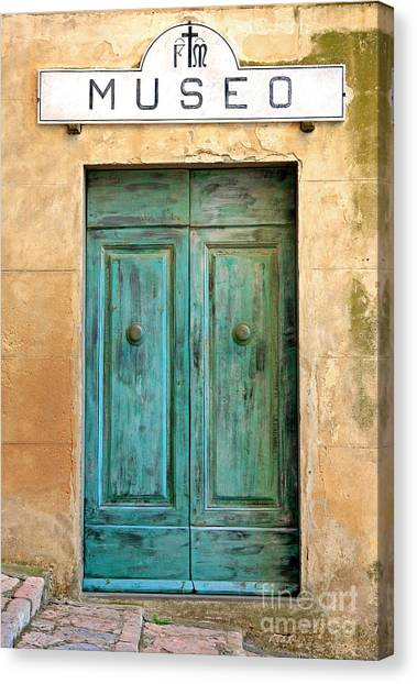 Weathed Museo Door Canvas Print