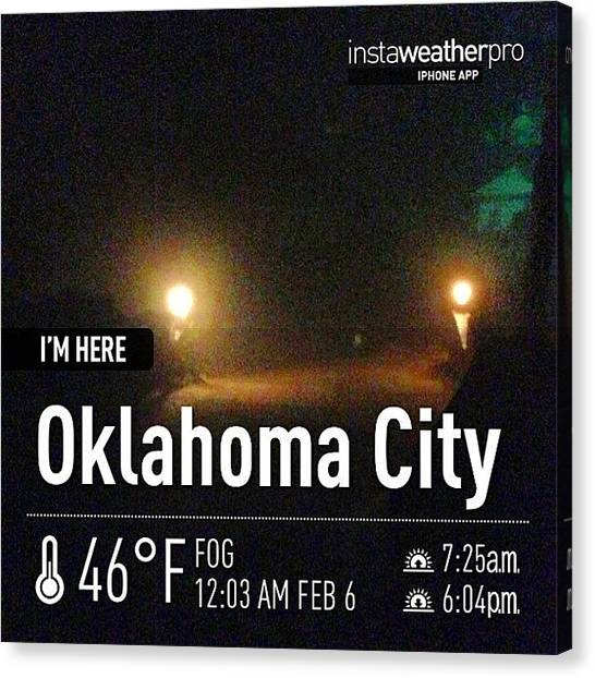Oklahoma Canvas Print - #weather #sky #instaweather by Angela Breeden