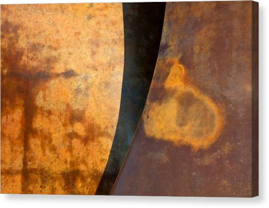 Weathered Bronze Abstract Canvas Print