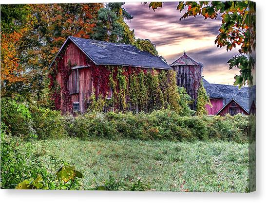 Weathered Connecticut Barn Canvas Print