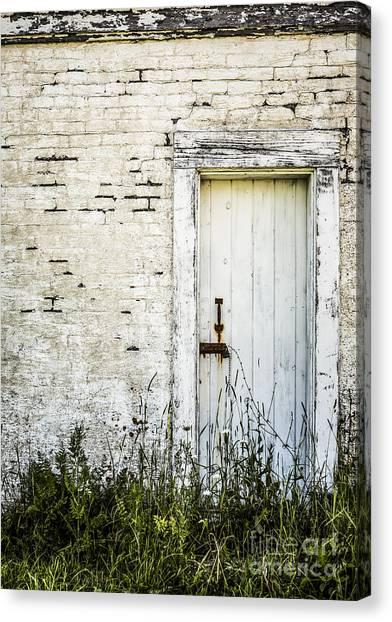 Old Door Canvas Print - Weathered Door by Diane Diederich