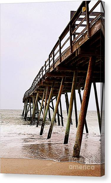 Weathered Oceanic Pier  Canvas Print