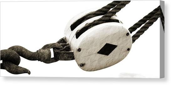 Weathered Pulley Canvas Print