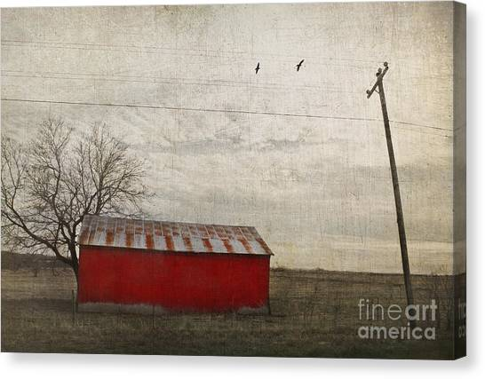 Weathered Red Barn Canvas Print