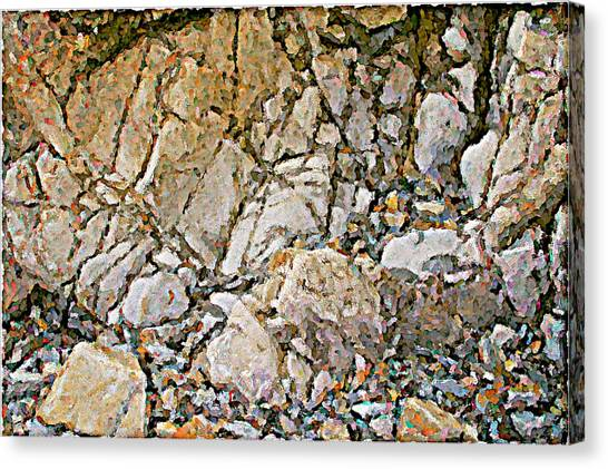 Weathered Rock Face Owlshead Canvas Print by Peter J Sucy