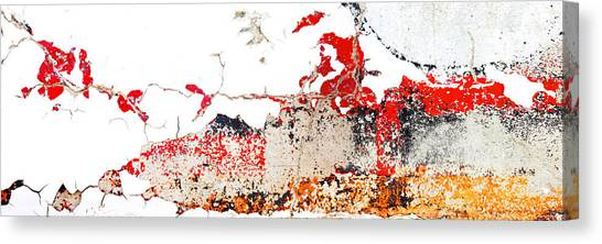 Weathered Sign Pano 2094 5 6 Canvas Print by Bob Hills
