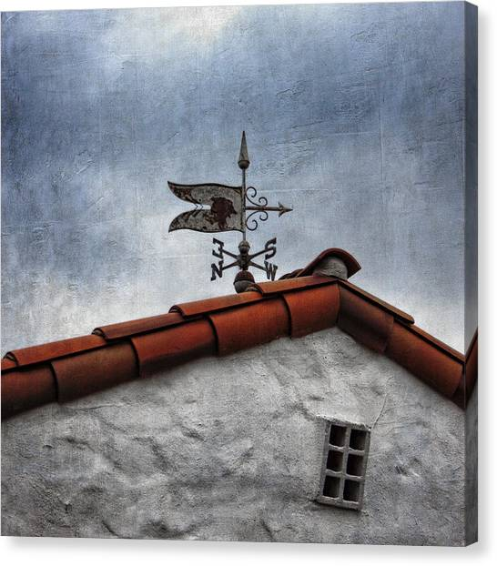 Weathered Canvas Print - Weathered Weathervane by Carol Leigh