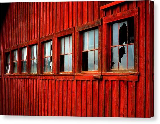 Weathered Windows Canvas Print by Mamie Gunning