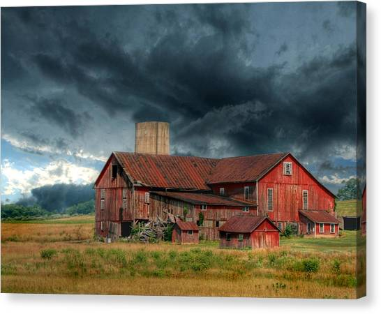 Dilapidated Canvas Print - Weathering The Storm by Lori Deiter