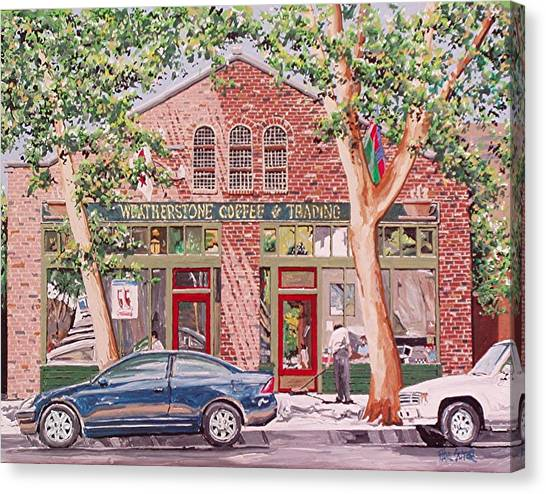 Weatherstone Coffee Canvas Print by Paul Guyer