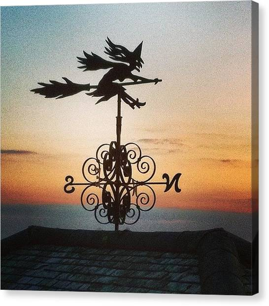 Witches Canvas Print - #weathervane #wytchcutting #witch by Boo Mason