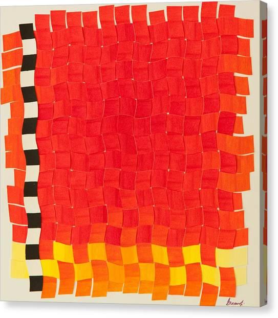 Weave #2 Sunset Weave Canvas Print