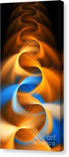 Weaving Color  Canvas Print