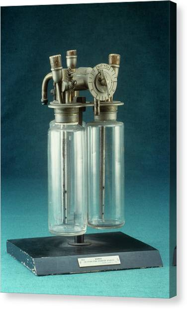 Improve Canvas Print - Webber Anaesthetic Apparatus by Science Photo Library