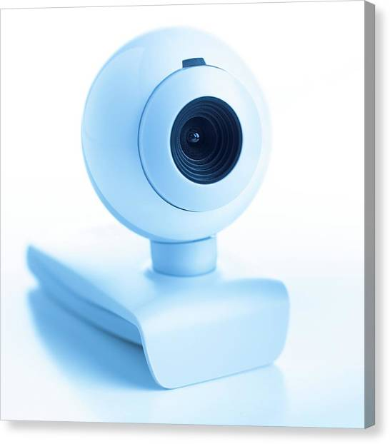 Big Brother Canvas Print - Webcam by Science Photo Library