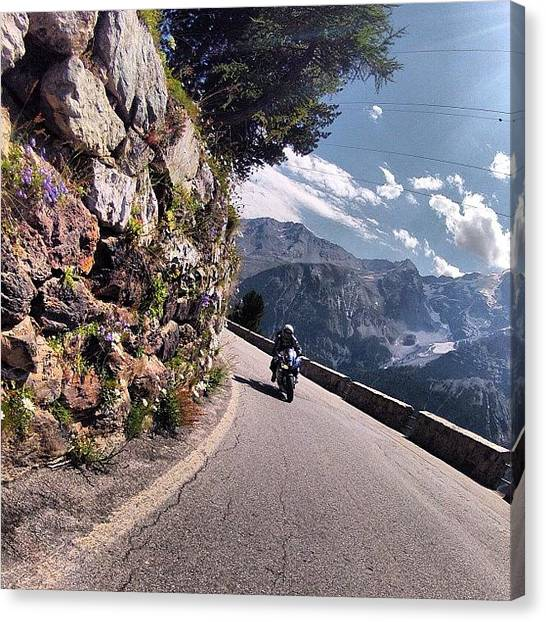 Biker Canvas Print - #webstagram #mototurismo #bikers by Adolini Primo