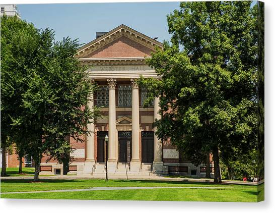 Dartmouth College Canvas Print - Webster Hall At Dartmouth by Sherman Perry