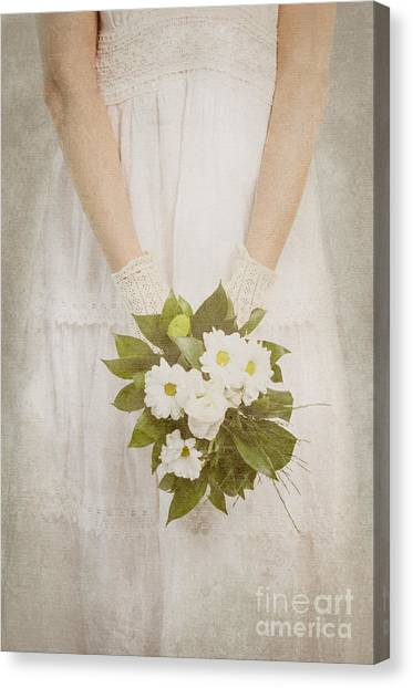 Wedding Bouquet Canvas Print - Wedding Bouquet by Jelena Jovanovic