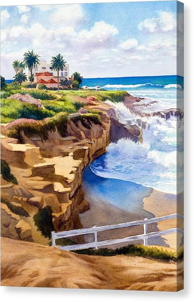 Pacific Coast Canvas Print - Wedding Bowl La Jolla California by Mary Helmreich