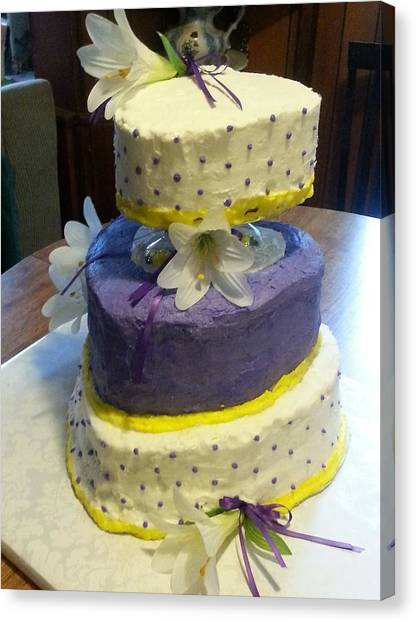 Wedding Cake For May Canvas Print