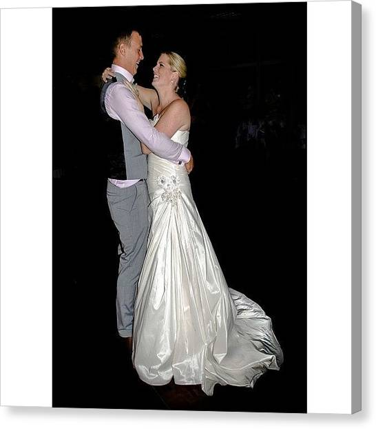 Groom Canvas Print - #wedding #first #dance #firstdance by Mike Smith