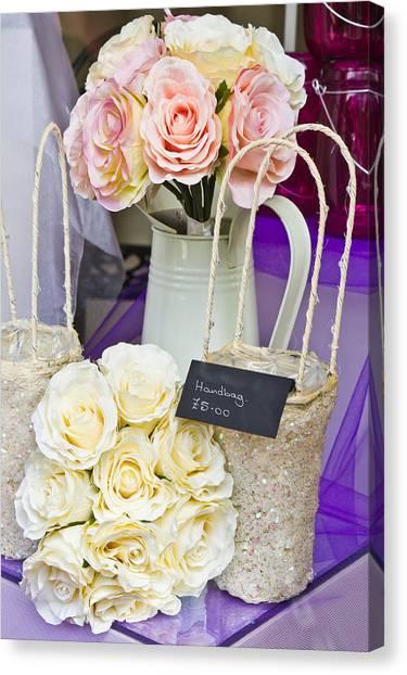 Wedding Bouquet Canvas Print - Wedding Gifts by Tom Gowanlock