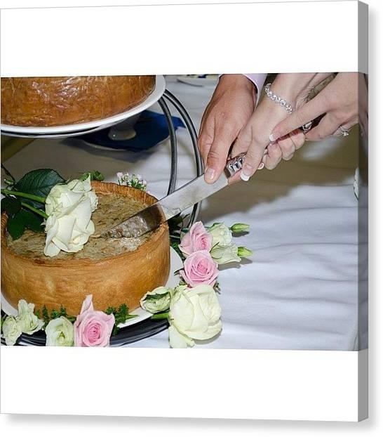Groom Canvas Print - #wedding #happy #porkpie #pork #pie by Mike Smith