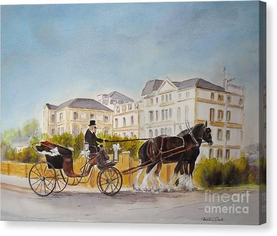 Wedding Imperial Hotel Hythe Canvas Print