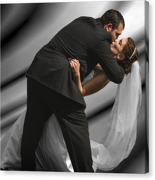 Wedding Kiss Canvas Print