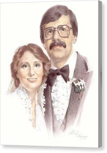 Wedding Portrait. Commission. Canvas Print