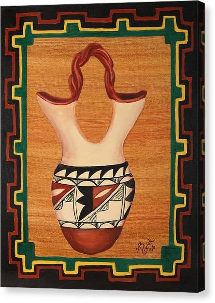 Wedding Vase Canvas Print by Mary Anne Civiok