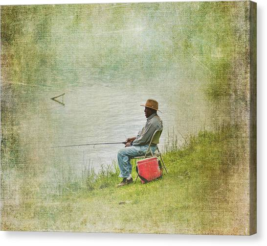 Fishing Canvas Print - Wednesday Afternoon by Jai Johnson