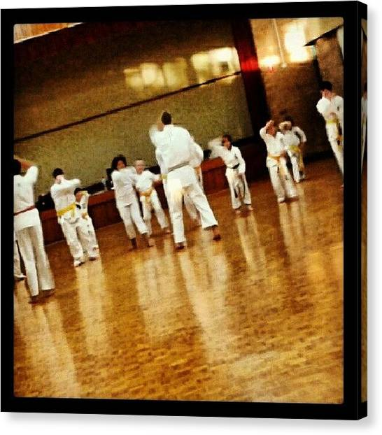 Karate Canvas Print - #wednesdays #portraits #sempai #karate by Ragenangel -s