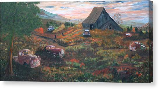 Weeds And Rust Canvas Print