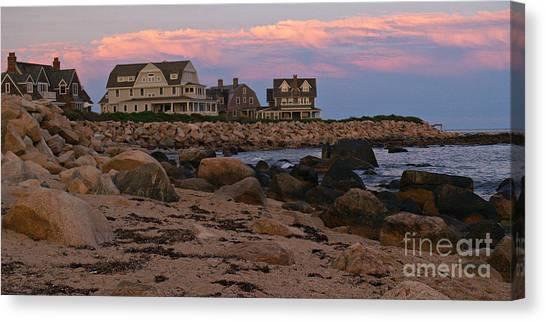 Weekapaug Ri Sunset Panorama Canvas Print